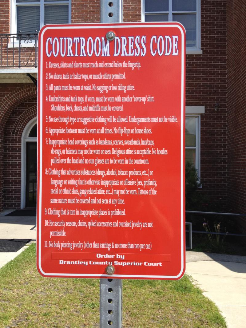 Brantley County Court Dress Code