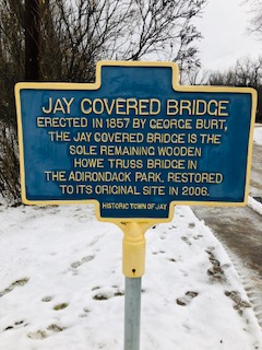 Jay Covered Bridge Sign