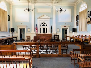 Interior Ossipee courthouse
