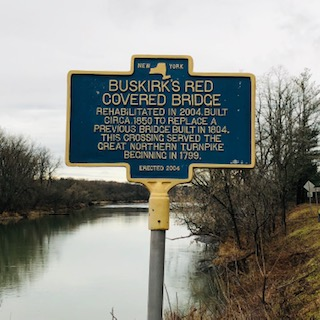 Buskirk Covered Bridge sign