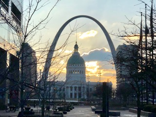 1839 St Louis Courthouse sunrise