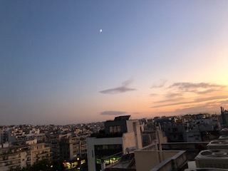 Athens sunset 1