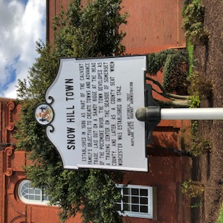 Historic Sign Snow Hill  Maryland