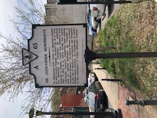 Historic Sign Alexander Humphreys  Staunton VA