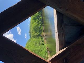 Downstream View Henniker Covered Bridge