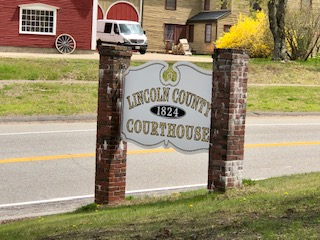 Lincoln Co. Courthouse Sign  Wiscasset ME