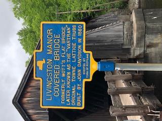 Historic Sign Livingston Manor Covered Bridge Livingston Manor Y