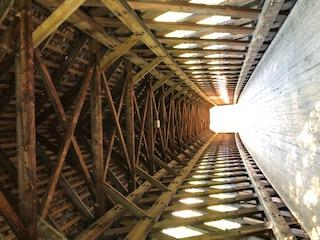 Interior Henniker Covered Bridge  Henniker NH